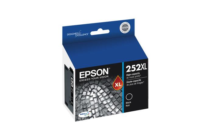 Epson 252XL, Black Ink Cartridge, High Capacity