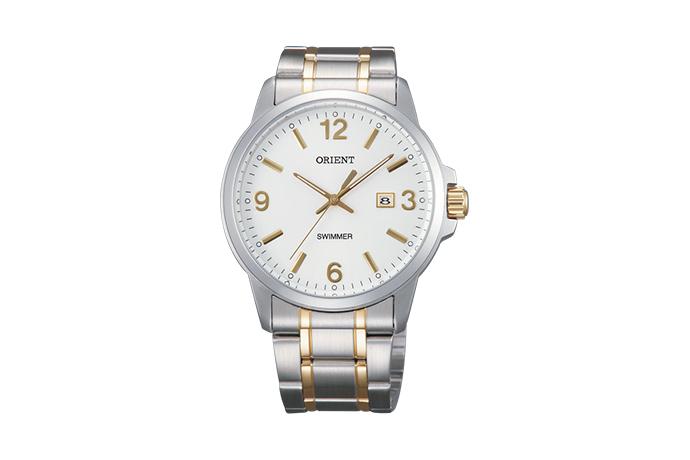 ORIENT: Quartz Contemporary Watch, Metal Strap - 41.0mm (UNE5002W)