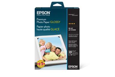 "Premium Photo Paper Glossy, Borderless, 5"" x 7"", 20 sheets"