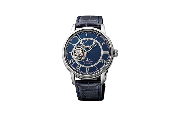 ORIENT STAR: Mechanical Classic Watch, CrocodileLeather Strap - 40mm (RE-HH0002L0)
