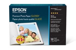 "Premium Photo Paper Glossy, Borderless, 4"" x 6"", 100 sheets"