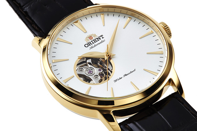 ORIENT: Mechanical Contemporary Watch, Leather Strap - 41.0mm (AG02003W)