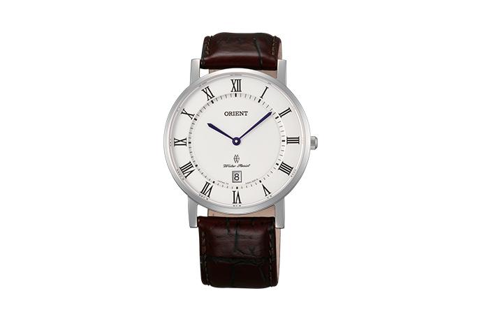 Orient: Cuarzo Clásico Reloj, Cuero Correa - 38.0mm (GW0100HW)
