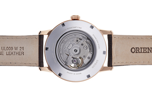 ORIENT: Mecánico Clásico Reloj, Cuero Correa - 42.0mm (RA-AS0003S)