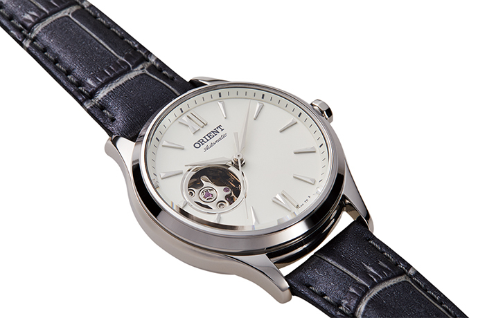 ORIENT: Mechanical Contemporary Watch, Leather Strap - 35.6mm (RA-AG0025S)