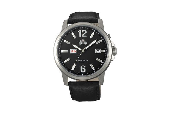 ORIENT: Mechanisch Modern Uhr, Leder Band - 42.0mm (EM7J00BB)
