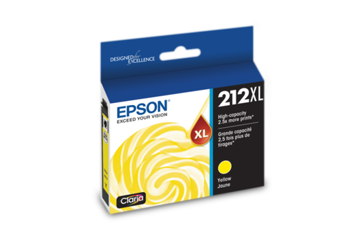 Epson 212XL, Yellow Ink Cartridge, High-Capacity