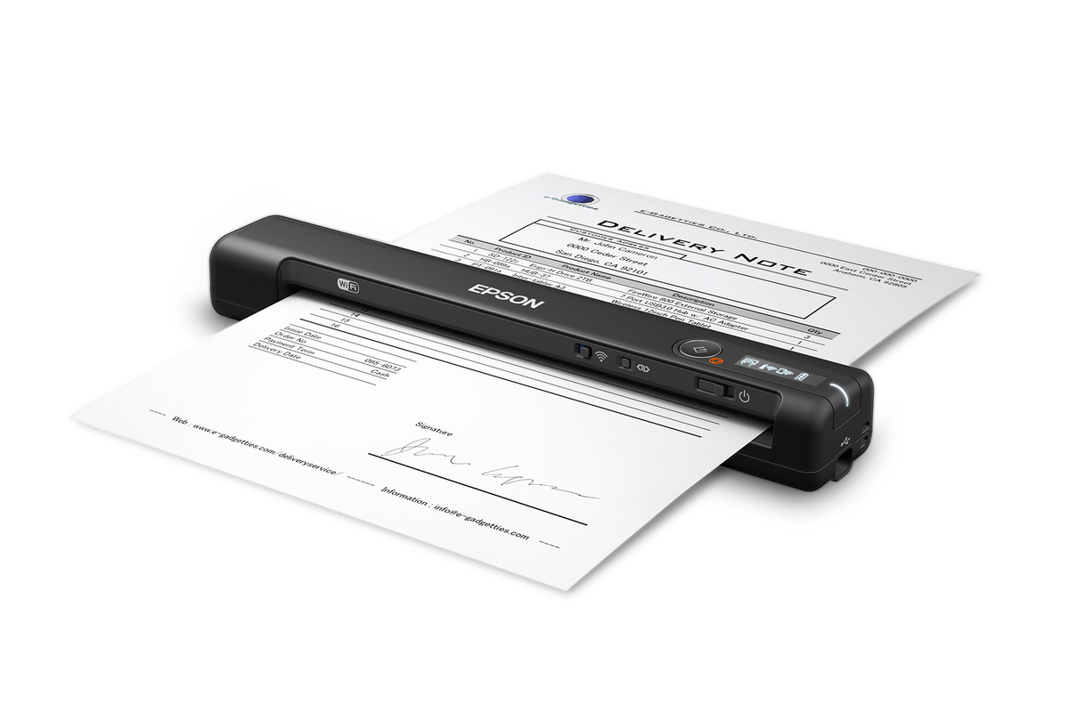 WorkForce ES-60W Wireless Portable Document Scanner