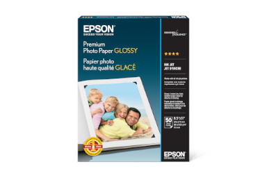"Premium Photo Paper Glossy, 8.5"" x 11"", 50 sheets"