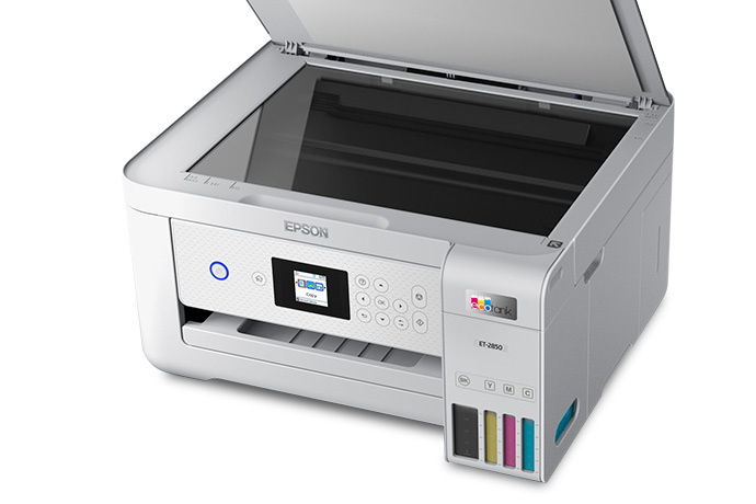 EcoTank ET-2850 Wireless Color All-in-One Cartridge-Free Supertank Printer with Scan, Copy and Auto 2-sided Printing
