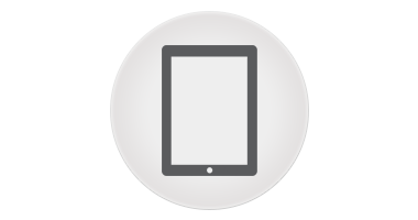 Icon of a tablet computer