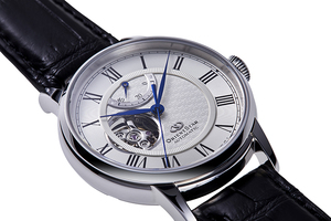 ORIENT STAR: Mechaniczny Klasyczny Zegarki, Skórzany o fakturze imitującej skórę krokodyla Pasek - 40.0mm (RE-HH0001S0)