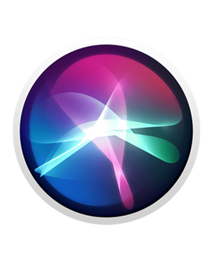 Logo of Siri virtual assistant showing a glowing blue and purple circle with waves or radiant light