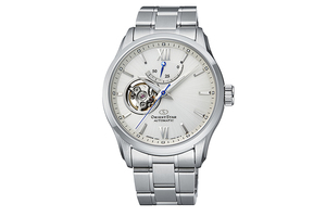 ORIENT STAR: Mechanical Contemporary Watch, Metal Strap - 39.3mm (RE-AT0003S)