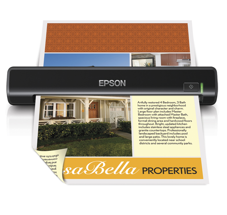 Epson WorkForce DS-30 Portable Sheet-fed Document Scanner