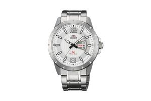 Orient: Cuarzo Sports Reloj, Metal Correa - 43.0mm (UG1X005W)