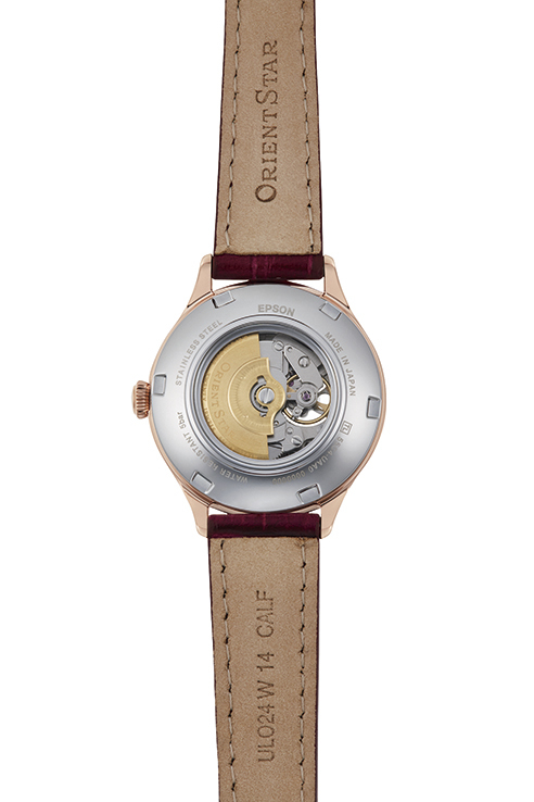 ORIENT STAR: Mechanical Classic Watch, Leather Strap - 30.5mm (RE-ND0006S)