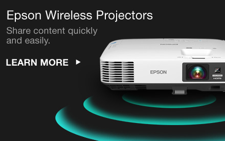 Epson Wireless Projectors. Share content quickly and easily. Learn More