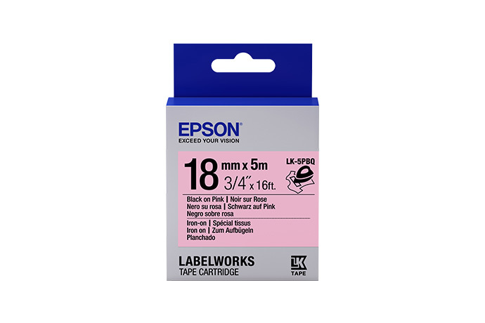 LabelWorks Iron on (Fabric) LK Tape Cartridge ~3/4
