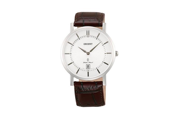 Orient: Cuarzo Contemporary Reloj, Cuero Correa - 38.0mm (GW01007W)