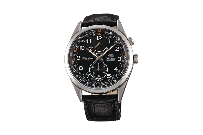 ORIENT: Mechanical Sports Watch, Leather Strap - 43.0mm (FM03004B)
