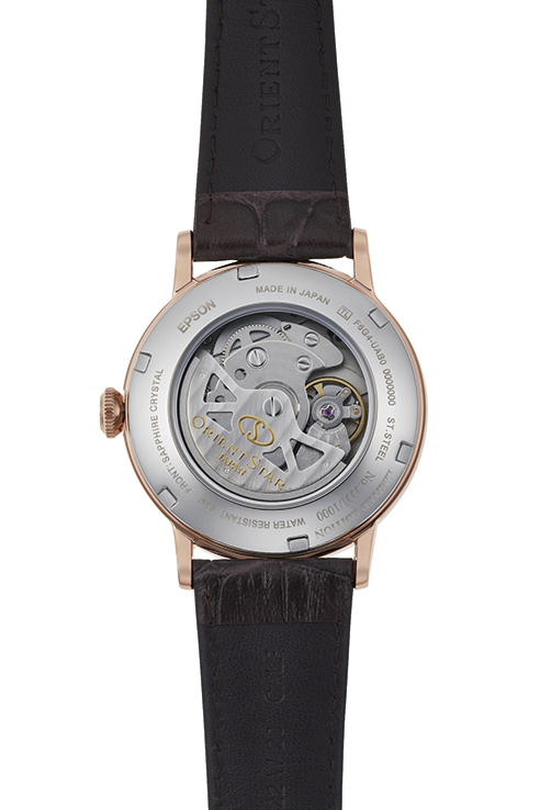 ORIENT STAR: Mechanical Classic Watch, Leather Strap - 38.7mm (RE-AW0005L)