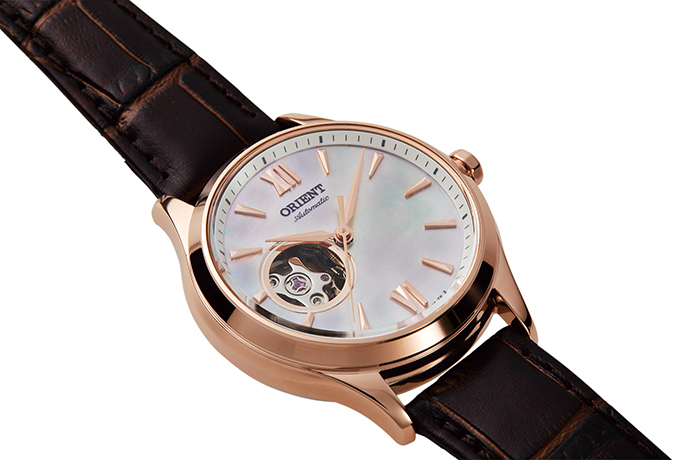 ORIENT: Mechanical Contemporary Watch, Leather Strap - 35.6mm (RA-AG0022A)