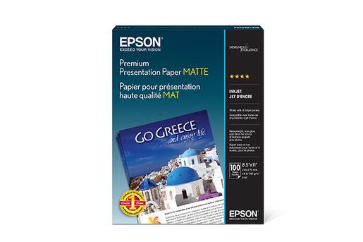 "Premium Presentation Paper Matte, 8.5"" x 11"", 100 sheets"