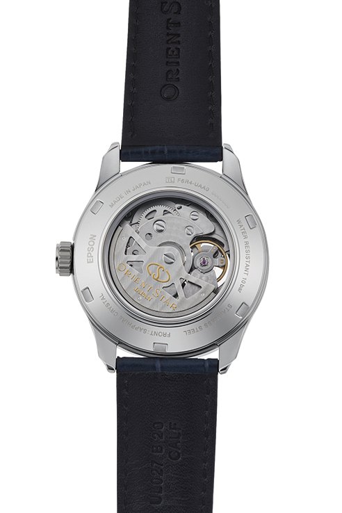 ORIENT STAR: Mechanical Contemporary Watch, Leather Strap - 39.3mm (RE-AT0006L)