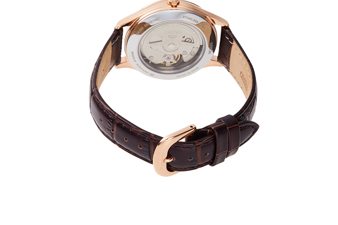 ORIENT: Mechanical Contemporary Watch, Leather Strap - 35.9mm (RA-AG0017Y)