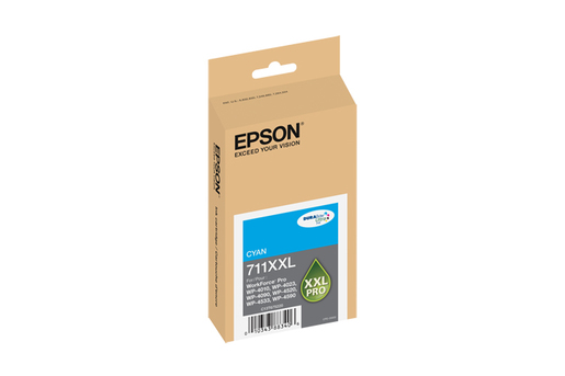Epson 711XXL, Cyan Ink Cartridge, Extra High Capacity