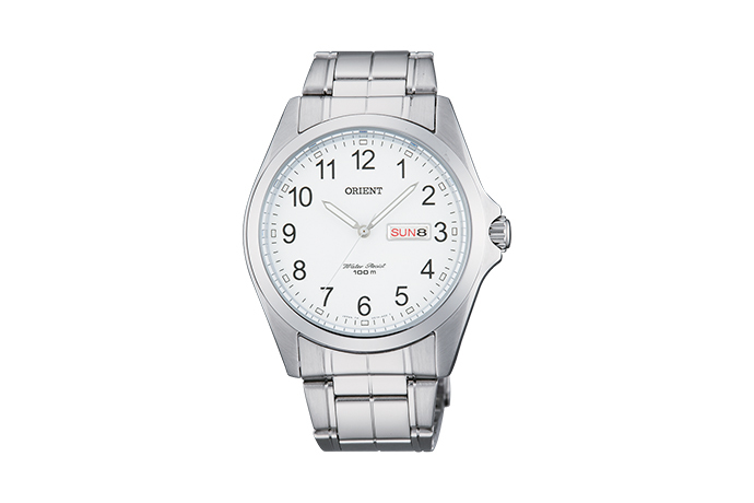 Orient: Cuarzo Contemporary Reloj, Metal Correa - 40.0mm (UG1H002W)