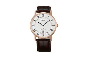 Orient: Cuarzo Clásico Reloj, Cuero Correa - 38.0mm (GW0100EW)
