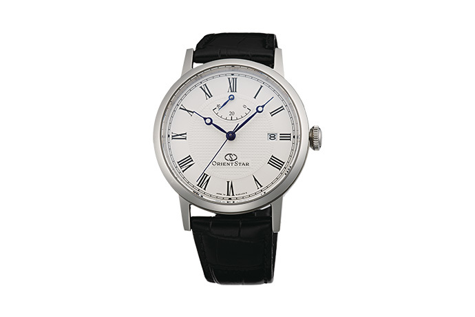 ORIENT STAR: Mechanical Classic Watch, Leather Strap - 38.7mm (EL09004W)