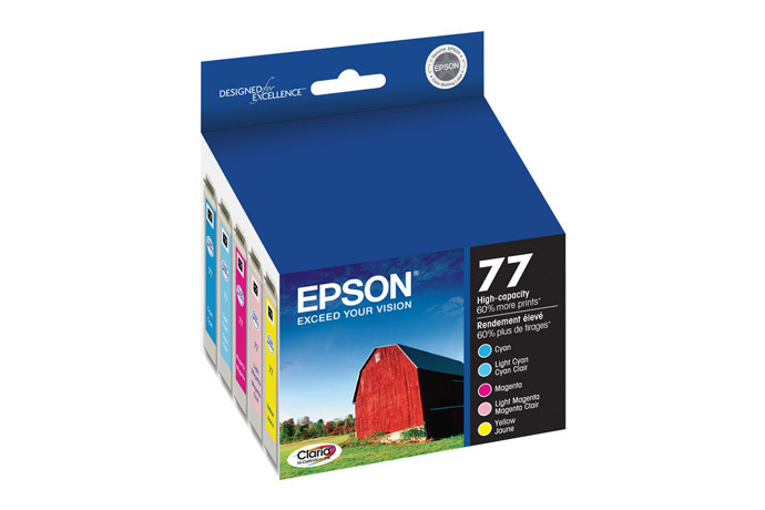 Epson 77, Color Ink Cartridges, High Capacity,  C/M/Y/LC/LM 5-Pack