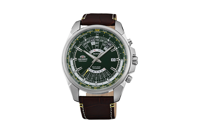 06e5d60dc ORIENT: Mechanical Sports Watch, Leather Strap - 45.0mm (EU0B003F ...