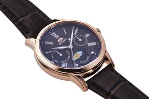 ORIENT: Cuarzo Clásico Reloj, Cuero Correa - 34.8mm (RA-KA0002Y)