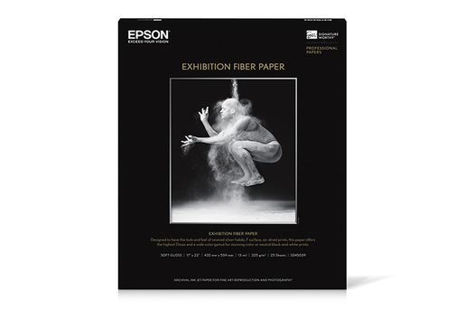 "Epson Exhibition Fiber Paper for Inkjet (17 x 22"", C , 25 Hojas)"