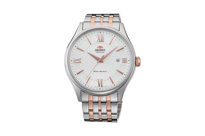 Orient: Mechaniczny Klasyczny Zegarki, Metalowy Pasek - 43.0mm (AC04001W)