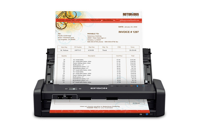 WorkForce ES-300WR Wireless Document Scanner ― Accounting Edition - Refurbished