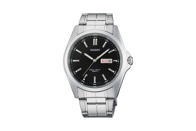 Orient: Cuarzo Contemporary Reloj, Metal Correa - 40.0mm (UG1H001B)