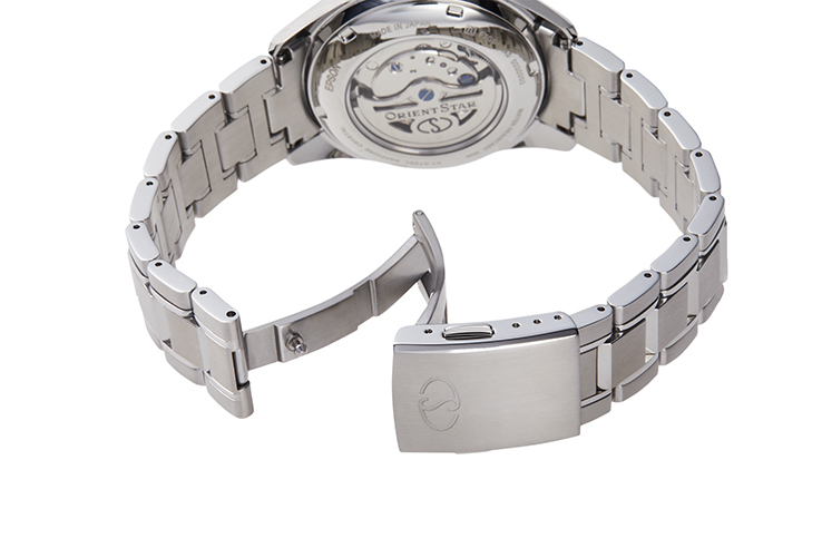 ORIENT STAR: Mechanical Contemporary Watch, Metal Strap - 40.0mm (RE-HK0003B)