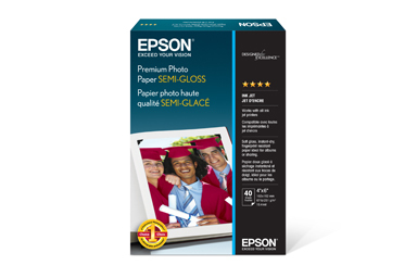 "Premium Photo Paper Semi-gloss, 4"" x 6"", 40 folhas"