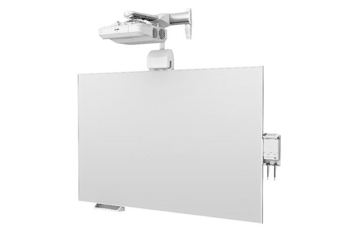 BrightLink Pro 1470Ui WUXGA 3LCD Interactive Laser Display with All in One Whiteboard & Wall Mount
