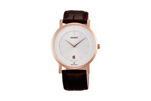 Orient: Cuarzo Clásico Reloj, Cuero Correa - 38.0mm (GW0100CW)