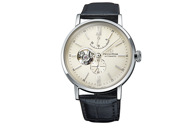 ORIENT STAR: Mechanical Classic Watch, Leather Strap - 40mm (RE-AV0002S)