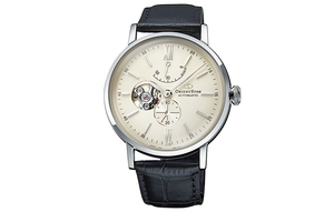 ORIENT STAR: Mechanical Classic Watch, Leather Strap - 40.0mm (RE-AV0002S)