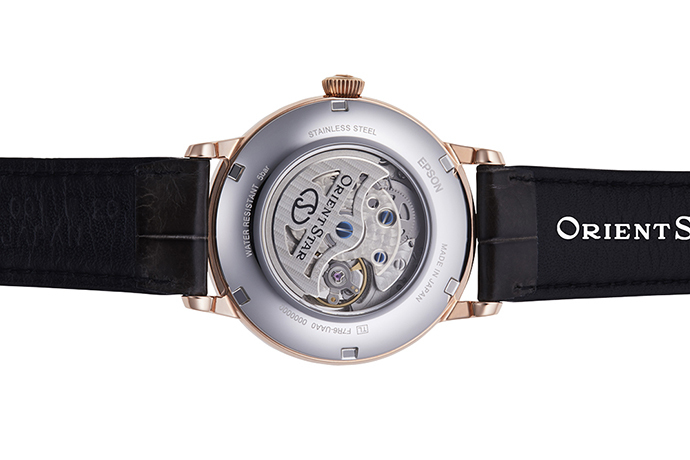 ORIENT STAR: Mechanical Classic Watch, CrocodileLeather Strap - 40mm (RE-HH0003S0)