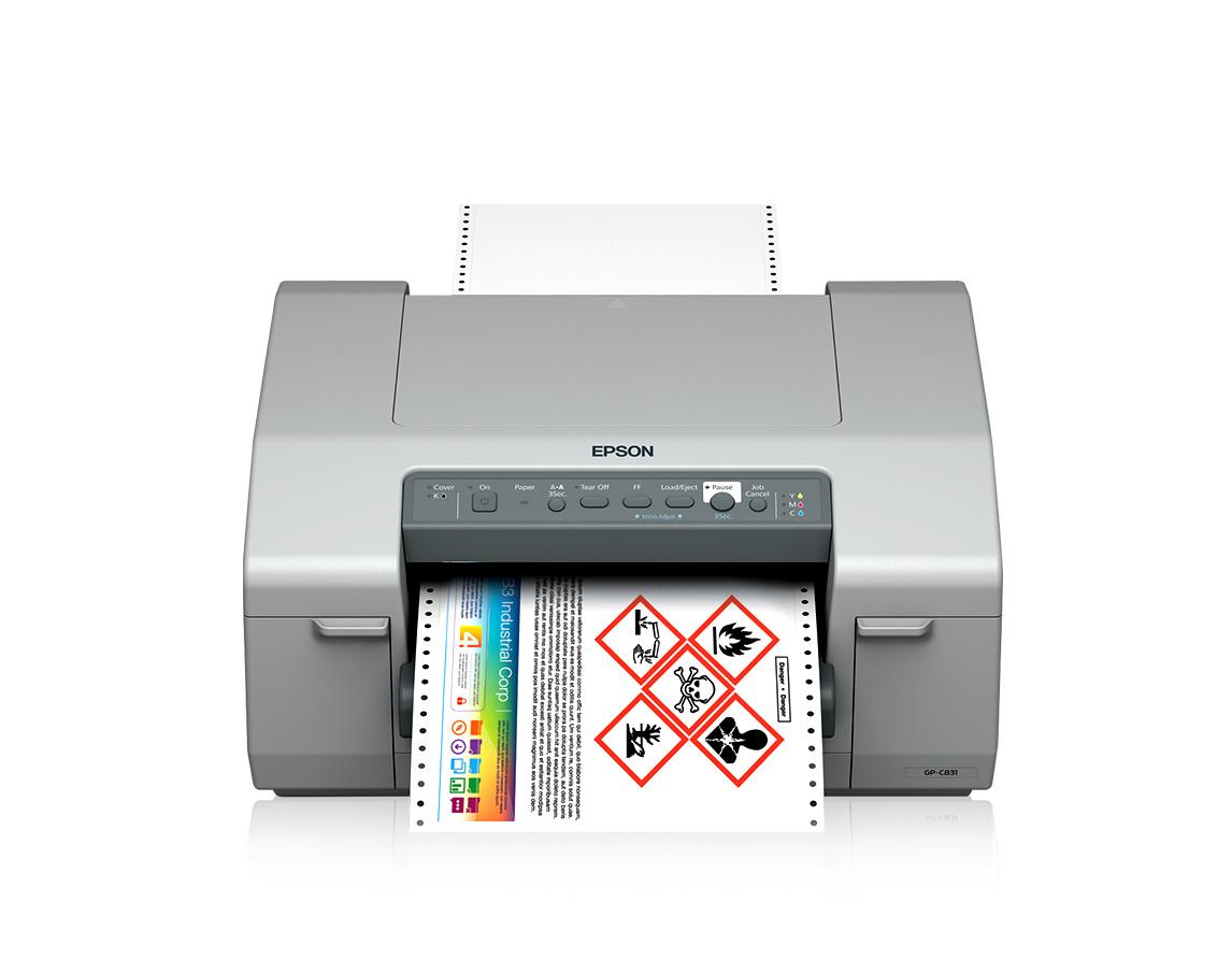 Color printer label - Colorworks C831 Inkjet Label Printer