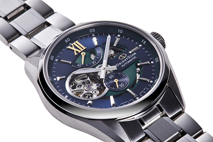 ORIENT STAR: Mecánico Contemporary Reloj, Metal Correa - 41.0mm (RE-DK0001L)